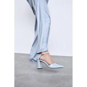NWT Zara Size 10 Patent Finish Heeled Heels